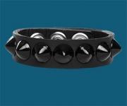 1-Row Black Cone Wristband