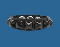 1-Row Black Pyramid Wristband