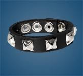 1-Row Pyramid Checkered Wristband