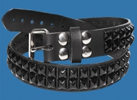 2-Row Black Pyramid Belt