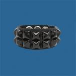 2-Row Black Pyramid Wristband