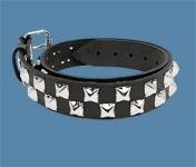 2-Row Pyramid Checkered Belt