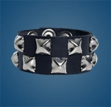 2-Row Pyramid Checkered Wristband