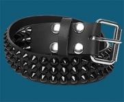 3-Row Black Cone Belt
