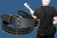 Black Pyramid Studded Guitar Strap