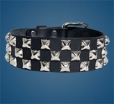3-Row Pyramid Checkered Collar
