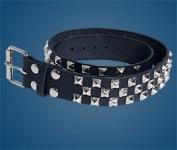 3-Row Pyramid Checkered Belt