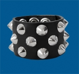 3-Row Cone Checkered Wristband