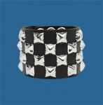 4-Row Pyramid Checkered Wristband