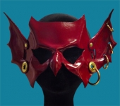 Goblin Hand-Made Leather Mask - Red