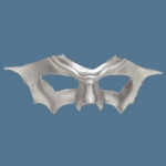 Handcrafted Leather Bat Winged Mask - Silver