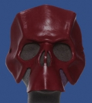 Oxblood Handcrafted Leather Skull Mask