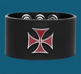 Red Iron Cross Wristband