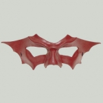 Handcrafted Bat Winged Mask - Oxblood