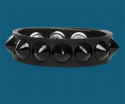 1-Row Black Cone Wristband