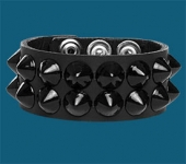 2-Row Black Cone Wristband