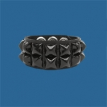 2-Row Black Pyramid Wristband