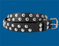 2-Row Dot Checkered Belt