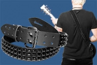 Black Pyramid Studded Guitar Strap