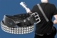 Silver Cone Studded Guitar Strap