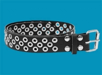 3-Row X Pattern Grommet Belt