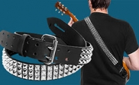 Silver Pyramid Studded Guitar Strap