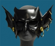 Goblin Hand-Made Leather Mask - Black