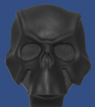 Black Handcrafted Leather Skull Mask