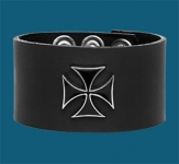 Black Iron Cross Wristband