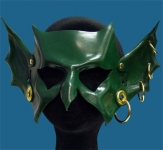 Goblin Hand-Made Leather Mask - Green