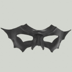Handcrafted Bat Winged Mask - Black