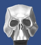 Silver Handcrafted Leather Skull Mask