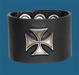 Silver Iron Cross Wristband