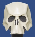 White Handcrafted Leather Skull Mask