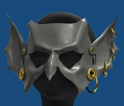 Goblin Hand-Made Leather Mask - Grey